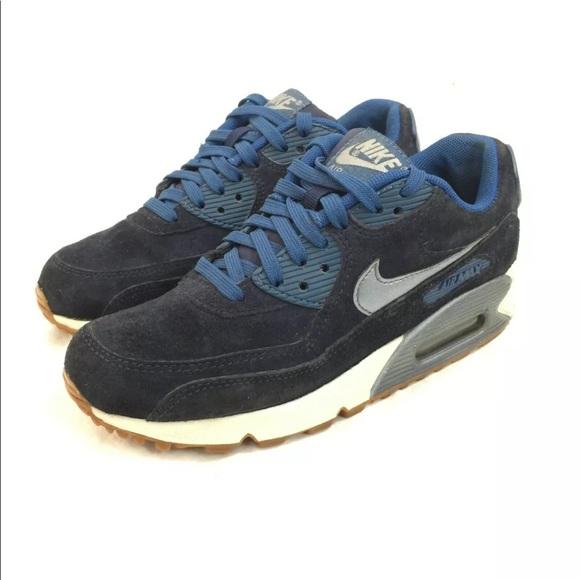 Nike Air Max 90 PRM womens blue suede shoes